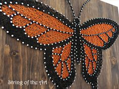 DIY String Art Kit - Butterfly, DIY Kit, Home Decor, Nail Art, Crafts Kit, DIY Crafts - Includes Pattern, String, Nails, and Instructions