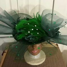 Beautiful Green Kentucky Derby or Church Dress Hat, Green Dress Hat