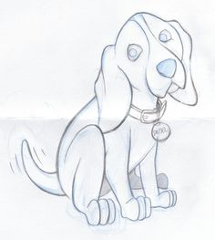 Beagle Dog Cartoon Sketch