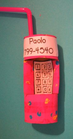 Great tool to help children learn their phone numbers.