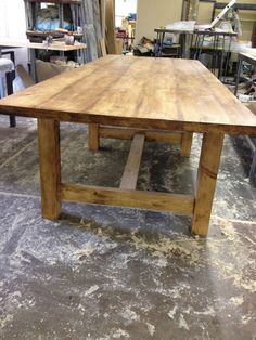 Handmade Ft X Ft Reclaimed Pine Table Farmhouse Rustic FB - 8ft dining table
