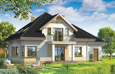 Model House Plan, House Plans, Modern Bungalow House, Facade House, Amanda, Home Fashion, Home And Garden, House Design, How To Plan
