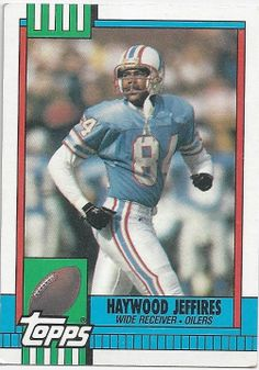 Haywood Jeffires ROOKIE Football Trading by FloridaFindersSports, $2.00