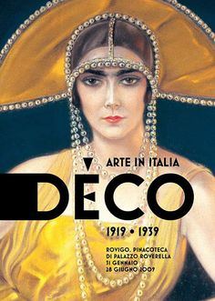 Poster portrait of Wally Toscanini, Countess Castelbarco 1925 by Alberto Martini (detail)