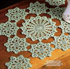 **PATTERN ONLY - Not the Finished Product - PATTERN ONLY**  Y176 Crochet PATTERN ONLY Shamrock Doily and Coaster St. Patricks Day  Offered is a Crochet Shamrock Doily and Coaster Pattern....Finished o