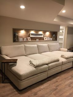 Clever Media Room Ideas In 2020 - Home Theater Home Cinema Room, Home Theater Rooms, Home Theater Design, Cinema Room Small, Small Movie Room, Home Theater Basement, Basement Family Rooms, Basement Movie Room, Home Theater Furniture