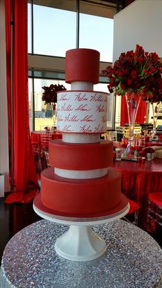 crimson and white with signature Burgundy Wedding Cake, Cake Wedding, Velvet Cake, Red Velvet, White Birthday Cakes, Candy Cakes, Painted Cakes, Anniversary Ideas, Cake Toppers