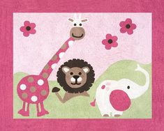 Pink and Green Jungle Friends Accent Floor Rug by Sweet Jojo Designs Sweet Jojo Designs http://www.amazon.com/dp/B0044EQXPO/ref=cm_sw_r_pi_dp_SZh.ub0DJ2CME