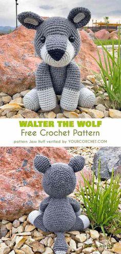 Walter the Wolf Amigurumi Free Crochet Pattern