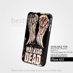 AJ 4335 Blood Wings The Walking Dead Design for iPhone 4/4s Case