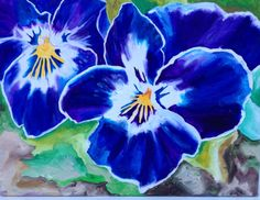 Violas 12x9 inch acrylic on box canvas by Chubby Peacock. Find me on Facebook