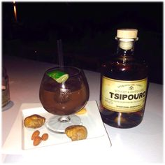 cocktail with aged tsipouro