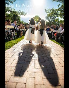 Jesse La Plante Photography | Hudson Gardens Wedding | Littleton, CO | Flower girls walking down aisle