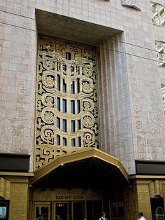 ArtDeco | Entrance, 450 Sutter Street, San Fransisco. Designed by Timothy L. Pfleuger, 1929.