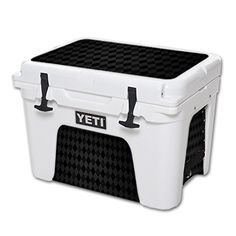 MightySkins Protective Vinyl Skin Decal for YETI Tundra 35 qt Cooler wrap cover sticker skins Black Argyle * You can find out more details at the link of the image.