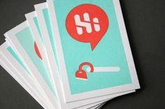 Hi Ho Designs letterpress business cards