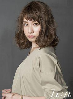 抜け感ショートバングのリラックスミディ【ZA/ZA AOYAMA】http://beautynavi.woman.excite.co.jp/style/detail/51185?pint≪ #mediumhair #mediumstyle #mediumhairstyle #hairstyle・ミディアム・ヘアスタイル・髪形・髪型≫