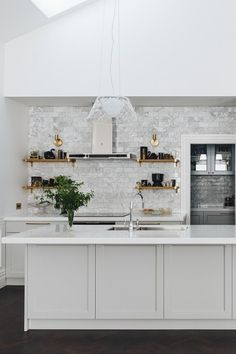 NEWTOWN HOUSE - KITCHEN & SCULLERY | The English Tapware Company House, Glass Front Door, Splashback, Cabinetry, Kitchen Taps, Home Decor, Kitchen Dining, Home Kitchens, Kitchen Design