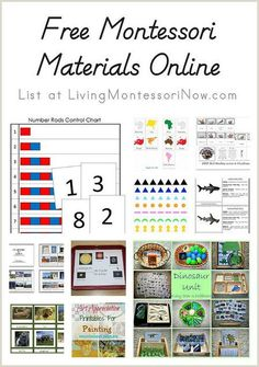 How I would have loved these resources during my years teaching in Montessori schools or in my own homeschool! I still find it amazing that there are so many free Montessori materials available online today. What great resources for parents and teachers alike!