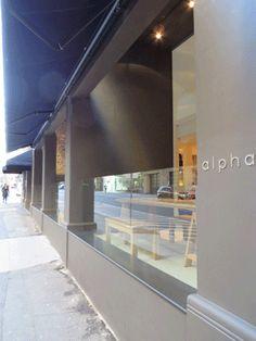 Mali Bluestone, honed step treads from Bellstone & Slate at Alpha Restaurant at Sydney's Pan Hellenic Club