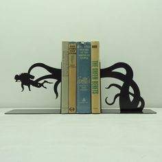 Diver Tentacle Attack Bookends  Free by KnobCreekMetalArts, $49.99