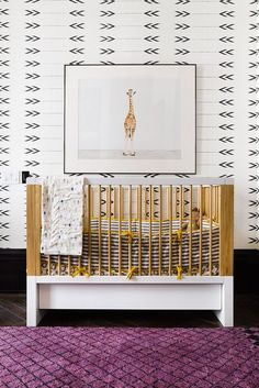 Nursery | love the wallpaper