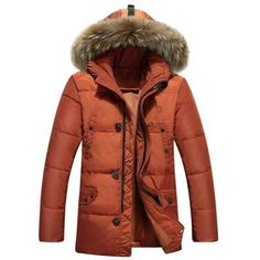 Winter Casual Duck Down Jackets 4 Colors XXL XXXL Zipper Thicken Coat With Fur Collar Men's Down Jackets and Warm Snow Overcoat