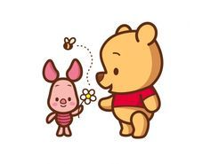 simple piglet and pooh head outline tattoo - Google Search