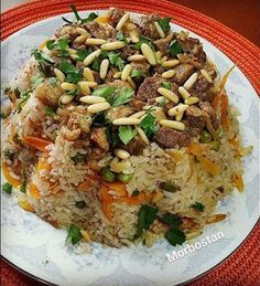 ARAP PİLAVI - MORBOSTAN Nutritional Value Of Rice, Meat Recipes, Dinner Recipes, Turkish Recipes, Ethnic Recipes, Turkish Kitchen, Fat Foods, Arabic Food, Iftar