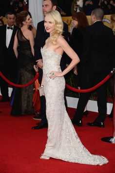 Naomi Watts in Marchesa at the Screen Actors Guild Awards 2013.