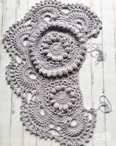 A crochet elephant rug in the making by Little Cosy Things this is one of the ears  @littlecosythings #littlecosythings #crochet