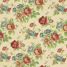 Linen Roses 7 - Farbmix - Dekostoffe Rosen - stoffe.de