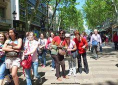 Las Ramblas - Barcelona  Nós no mundo