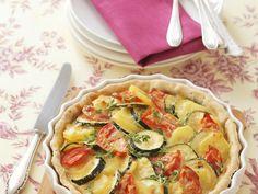 Kartoffel-Zucchini-Kuchen mit Tomaten - smarter - Zeit: 30 Min. | eatsmarter.de
