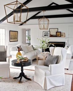 love this modern farmhouse living room
