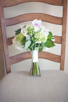 hydrangea & greens make a simple, stunning bouquet