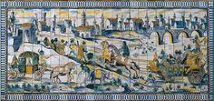 Portuguese glazed tile.  National glazed tile museum - Lisboa