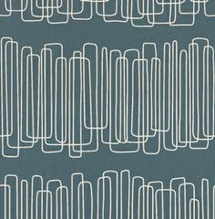 Loopy Lines (50-253) - Graham and Brown Wallpapers - A stylised loopy lines design showing in Rock a billy blue in the style of the 1960s. Please request a sample for true colour match.
