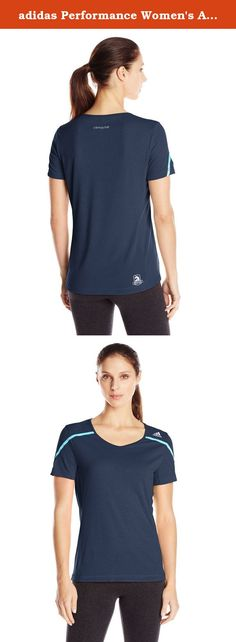 adidas Performance Women's Adizero Boston Tee, Large, Collegiate Navy/Vivid Mint. Known for its heart-pounding hills and storied tradition, Boston is the granddaddy of all marathons. This men's running t-shirt pays tribute to those legendary 42.2 km with a reflective Boston Marathon logo at the hem. The lightweight tee has a slim fit and is designed specifically to support a runners muscles for better fit and comfort as you move. CLIMACHILL fabric allows airflow to keep you cool and dry...