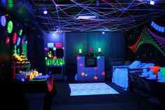 Our Little Women: Black Light Party 101 --- lots of information for throwing a backlight party.  What works - what doesn't.  How to decorate. Etc.