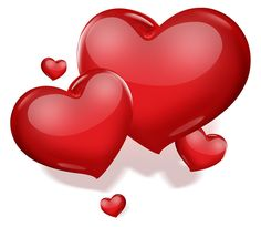 Bold Red Hearts