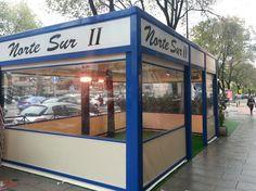 Pérgola de aluminio para restaurante en zona céntrica de Madrid