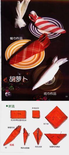 Fold Napkins - Carrots