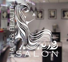 Details About WOMAN HAIR  BEAUTY SALON Vinyl Window Sticker - Window stickers for business