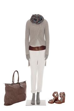 brunello-cucinelli collection with noble colors perfect for soft summer. Would use a colorful scarf at the neck.