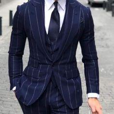 Blazer Outfits Men, Outfits Hombre, Outfits Damen, Flannel Suit, Men's Suits, Designer Suits For Men, Pinstripe Suit, Elegantes Outfit, Winter Mode