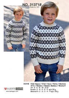Icelandic - Faroe Sweater from Heart Yarn 313718 / : Icelandic Sweater from Heart Yarn knit in lovely soft wool yarn Knitting For Kids, Knitting For Beginners, Crochet For Kids, Crochet Baby, Knit Crochet, Fair Isle Knitting, Knitting Yarn, Baby Knitting, Knitting Patterns