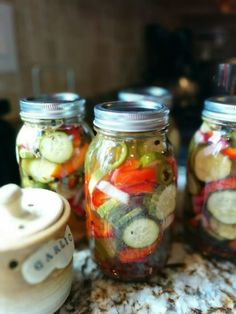 """Spicy Dill Pickles with Jalapenos! """"Taken right after adding them to the jar""""  @allthecooks #recipe #pickles #spicy"""