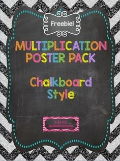 These posters were created to go along with my classroom theme and also to help support math instruction. Use these multiplication anchor charts on your walls or bulletin board displays! These were made for my fifth grade classroom, but they will be helpful for any grade that focuses on multiplication.