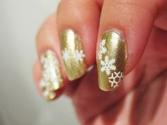 Summer Snow - Orly Luxe with snowflake water decals. Click the image for more!